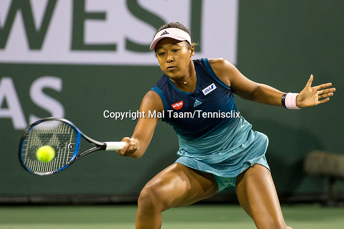 March 9, 2019: Naomi Osaka (JPN) defeated Kristina Mladenovic (FRA) 6-3, 6-4 at the BNP Paribas Open at the Indian Wells Tennis Garden in Indian Wells, California. ©Mal Taam/TennisClix/CSM