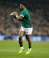Saturday 17th November 2018 | Ireland vs New Zealand<br /> <br /> Bundee Aki during 2018 Guinness Series between Ireland and Argentina at the Aviva Stadium, Lansdowne Road, Dublin, Ireland. Photo by John Dickson / DICKSONDIGITAL