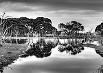 Kangaroo Island beauty shown in the reflection of water<br /> a place where you can loose your self in the past