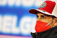 26th August 2021; Spa Francorchamps, Stavelot, Belgium: FIA F1 Grand Prix of Belgium, driver arrival day:  99 Antonio Giovinazzi ITA, Alfa Romeo Racing ORLEN