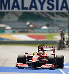 02 Apr 2009, Kuala Lumpur, Malaysia ---     Scuderia Ferrari Marlboro driver Kimi Raikkonen of Finland in the first practice session during the 2009 Fia Formula One Malasyan Grand Prix at the Sepang circuit near Kuala Lumpur. Photo by Victor Fraile --- Image by © Victor Fraile / The Power of Sport Images