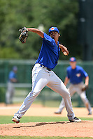 GCL Blue Jays pitcher Angel Perdomo (51) delivers a pitch during a game against the GCL Braves on June 27, 2014 at the ESPN Wide World of Sports in Orlando, Florida.  GCL Braves defeated GCL Blue Jays 10-9.  (Mike Janes/Four Seam Images)