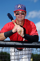 Mitch Roman (10) of the Kannapolis Intimidators poses for a photo prior to the game against the Delmarva Shorebirds at Kannapolis Intimidators Stadium on July 2, 2017 in Kannapolis, North Carolina.  The Shorebirds defeated the Intimidators 5-4.  (Brian Westerholt/Four Seam Images)