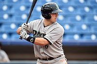 Dayton Dragons catcher Joe Hudson (8) at bat during a game against the Lake County Captains on June 8, 2014 at Classic Park in Eastlake, Ohio.  Lake County defeated Dayton 4-2.  (Mike Janes/Four Seam Images)
