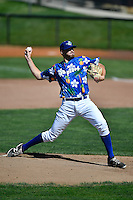 Ogden Raptors starting pitcher Nolan Long (56) delivers a pitch to the plate against the Helena Brewers in Pioneer League action at Lindquist Field on July 16, 2016 in Ogden, Utah. Ogden defeated Helena 5-4. (Stephen Smith/Four Seam Images)