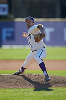 High Point Panthers relief pitcher Carson Jackson (10) in action against the NJIT Highlanders at Williard Stadium on February 19, 2017 in High Point, North Carolina. The Panthers defeated the Highlanders 6-5. (Brian Westerholt/Four Seam Images)
