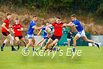 Sean O'Shea Kenmare takes on Adrian Spillane Templenoe during their game in Killarney on Sunday