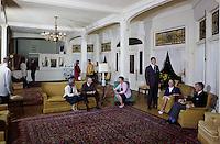 Poland Spring Hotel lobby.