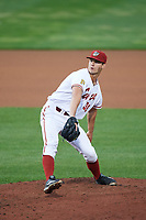 Altoona Curve relief pitcher Sean Keselica (39) delivers a pitch during a game against the New Hampshire Fisher Cats on May 11, 2017 at Peoples Natural Gas Field in Altoona, Pennsylvania.  Altoona defeated New Hampshire 4-3.  (Mike Janes/Four Seam Images)