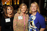 From left: Rose Harshfield, Barbara Beaton and Stephanie Haynes at the OTC Board Dinner hosted by the Greater Houston Convention and Visitors Bureau at the Julia Ideson Library Saturday April 28,2012. (Dave Rossman Photo)