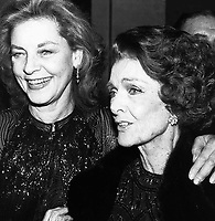 Lauren Bacall Myrna Loy 1980s Photo by Adam Scull-PHOTOlink.net