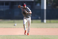 Vaughn Grissom (42) of Hagerty High School in Orlando, Florida during the Under Armour Baseball Factory National Showcase, Florida, presented by Baseball Factory on June 13, 2018 the Joe DiMaggio Sports Complex in Clearwater, Florida.  (Nathan Ray/Four Seam Images)