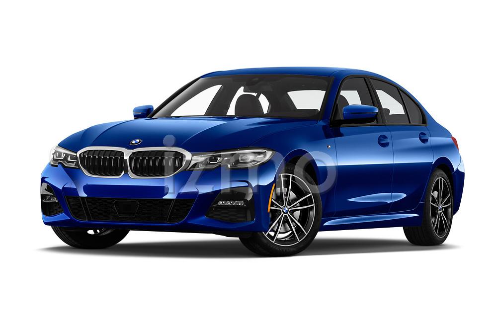 Low aggressive front three quarter view of a 2019 BMW 3 Series M Sport 4 Door Sedan
