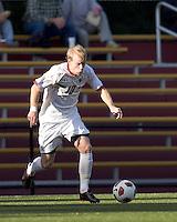 Boston College midfielder Kyle Bekker (10) dribbles the ball. Boston College defeated Harvard University, 2-0, at Newton Campus Field, October 11, 2011.