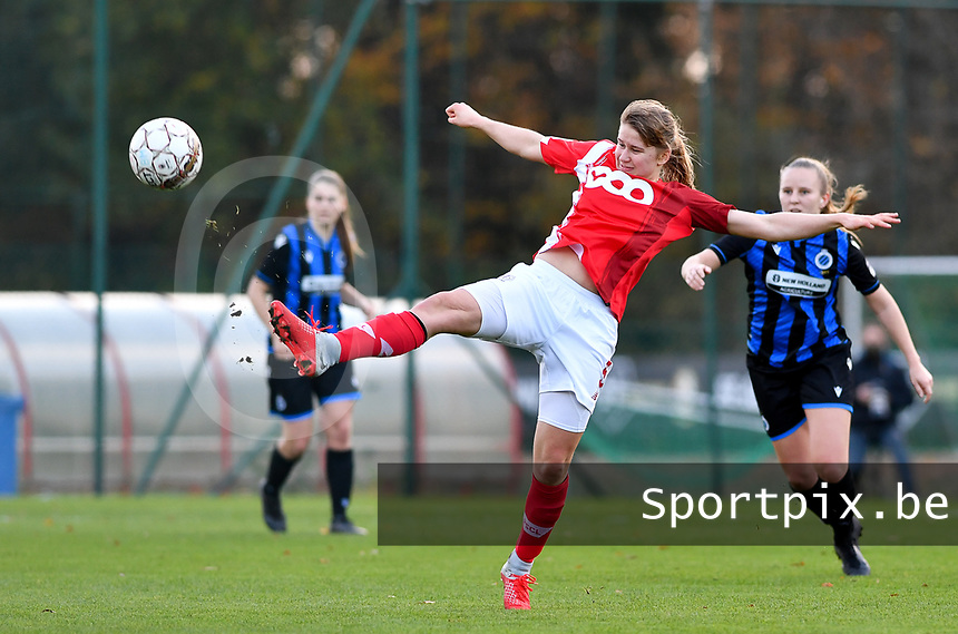 Aster Janssens  of Standard (5) pictured during a female soccer game between Standard Femina de Liege and Club Brugge YLA on the seventh matchday of the 2020 - 2021 season of Belgian Scooore Womens Super League , saturday 14 th of November 2020  in Angleur , Belgium . PHOTO SPORTPIX.BE | SPP | DAVID CATRY