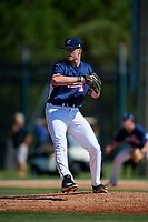 Jackson Phipps during the WWBA World Championship at the Roger Dean Complex on October 18, 2018 in Jupiter, Florida.  Jackson Phipps is a left handed pitcher from Dallas, Georgia who attends East Paulding High School and is committed to South Carolina.  (Mike Janes/Four Seam Images)
