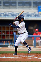 Charlotte Stone Crabs Garrett Whitley (16) during a Florida State League game against the Palm Beach Cardinals on April 14, 2019 at Charlotte Sports Park in Port Charlotte, Florida.  Palm Beach defeated Charlotte 5-3.  (Mike Janes/Four Seam Images)