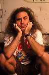 Anthrax vocalist, John Bush, poses for a portrait session