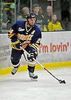 16 February 2008: Merrimack College Warriors' forward Rob Ricci, a Sophomore from Brampton, Ontario, in action against the University of Vermont Catamounts at Gutterson Fieldhouse in Burlington, Vermont. The Catamounts defeated the Warriors 2-1 for their second win of the 2-game weekend series...Mandatory Photo Credit: Ed Wolfstein Photo