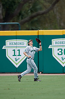 Dartmouth Big Green center fielder Trevor Johnson (36) tracks a fly ball during a game against the USF Bulls on March 17, 2019 at USF Baseball Stadium in Tampa, Florida.  USF defeated Dartmouth 4-1.  (Mike Janes/Four Seam Images)