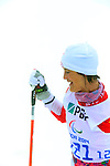 Sochi, Russia.11/03/2014. Canadian Caroline Bisson competes in the women's 10km standing biathlon  at the Sochi 2014 Paralympic Winter Games in Sochi Russia. (Photo Scott Grant/Canadian Paralympic Committee)