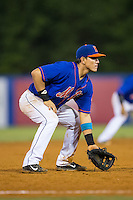Kingsport Mets third baseman Luis Ortega (24) on defense against the Elizabethton Twins at Hunter Wright Stadium on July 8, 2015 in Kingsport, Tennessee.  The Mets defeated the Twins 8-2. (Brian Westerholt/Four Seam Images)