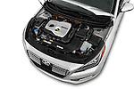Car Stock 2016 Hyundai Sonata-Plug-in-Hybrid Limited 4 Door Sedan Engine  high angle detail view