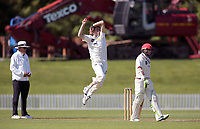 Ben Sears bowls during Day 1 of Round Two Plunket Shield cricket match between Canterbury and Wellington at Hagley Oval in Christchurch, New Zealand on Wednesday, 28 October 2020. Photo: Martin Hunter / lintottphoto.co.nz