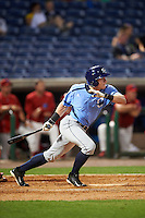 Charlotte Stone Crabs shortstop Alec Sole (23) at bat during a game against the Clearwater Threshers on April 12, 2016 at Bright House Field in Clearwater, Florida.  Charlotte defeated Clearwater 2-1.  (Mike Janes/Four Seam Images)