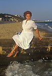 Patricia Phoenix Booth better known as Pat Phoenix actress actor summer season in  Bournmouth photo shoot 1980s Uk