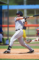 GCL Marlins catcher Matthew Foley (26) at bat during a game against the GCL Mets on August 12, 2016 at St. Lucie Sports Complex in St. Lucie, Florida.  GCL Marlins defeated GCL Mets 8-1.  (Mike Janes/Four Seam Images)