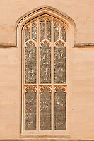 Radcliffe camera window in the afternoon light, Oxford University.