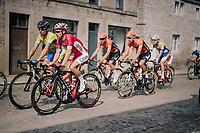 Michael van Staeyen (BEL/Cofidis) over the town's pavéd main road<br /> <br /> 59th Grand Prix de Wallonie 2018 <br /> 1 Day Race from Blegny to Citadelle de Namur (BEL / 206km)