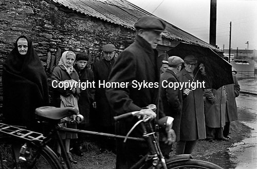 County Kerry  Ireland Eire 1969, people returning from Sunday morning church service. 1969
