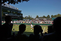 England, London, Juli 04, 2015, Tennis, Wimbledon, Outside courts 4 and 5 with on the left centrecourt<br /> Photo: Tennisimages/Henk Koster