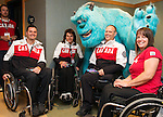 Calgary, AB - June 5 2014 - Mark Ideson, Collette Bourgonje, Dennis Thiessen and Ina Forrest during the Celebration of Excellence Heroes Tour visit to Ronald McDonald House in Calgary. (Photo: Matthew Murnaghan/Canadian Paralympic Committee)