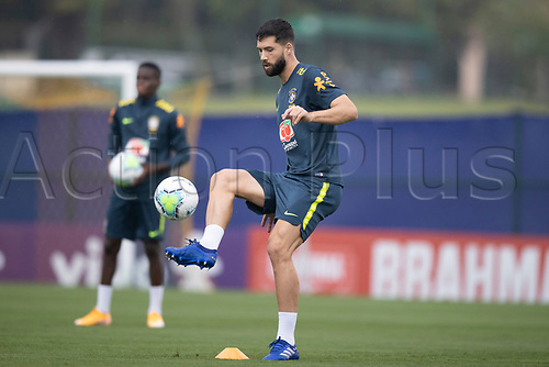 11th November 2020; Granja Comary, Teresopolis, Rio de Janeiro, Brazil; Qatar 2022 qualifiers; Felipe of Brazil during training session in Granja Comary