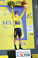 12th September 2020; Lyon, France;  TOUR DE FRANCE 2020- UCI Cycling World Tour during covid-19 pandemic. Stage 14 from Clermont-Ferrand to Lyon on the 12th of September. Primoz Roglic Slovenia Team Jumbo - Visma
