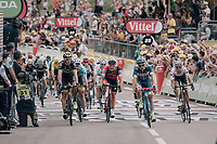 Tour debutant Guillaume Martin (FRA/Wanty-Groupe Gobert) wins the sprint for 3rd place ahead of accomplished riders such as Fabio Aru (ITA/Astana), Nicolas Roche (IRE/BMC) & Roman Kreuziger (CZE/ORICA-Scott)<br /> <br /> 104th Tour de France 2017<br /> Stage 8 - Dole › Station des Rousses (187km)