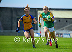 Caoimhe Evans, Kerry in action against Joanna Doohan, Clare in the Lidl Ladies National Football League Division 2A Round 2 at Austin Stack Park, Tralee on Sunday.