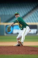 Baylor Bears relief pitcher Daniel Caruso (31) in action against the LSU Tigers in game five of the 2020 Shriners Hospitals for Children College Classic at Minute Maid Park on February 28, 2020 in Houston, Texas. The Bears defeated the Tigers 6-4. (Brian Westerholt/Four Seam Images)