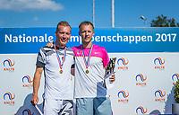 Etten-Leur, The Netherlands, August 27, 2017,  TC Etten, NVK, Winner men's 40+ , Dennis Bank (R) and runner up Wouter den Bakker<br /> Photo: Tennisimages/Henk Koster