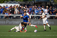 SAN JOSE, CA - AUGUST 8: Eric Remedi #5 during a game between Los Angeles FC and San Jose Earthquakes at PayPal Stadium on August 8, 2021 in San Jose, California.