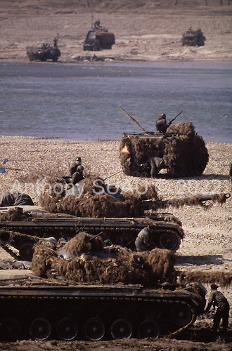 Korean DMZ<br /> March 1986<br /> <br /> The annual Team-Spirit Joint Military Operations between South Korean troops and United States troops near the South Korean DMZ.