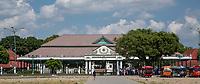 "Yogyakarta, Java, Indonesia.  Entrance to the Sultan's Palace Compound. the ""Kraton."""