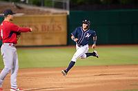Northwest Arkansas Naturals infielder Emmanuel Rivera (26) runs for third on May 18, 2019, at Arvest Ballpark in Springdale, Arkansas. (Jason Ivester/Four Seam Images)