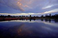 SUNSET AT ANGKOR WAT, SIAM REAP,CAMBODIA