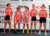 The Pepper Palace Pro Cycling (USA) team. Trust House Women's Cycle Tour Of New Zealand launch at Copthorne Hotel in Masterton, New Zealand on Wednesday, 18 February 2015. Photo: Dave Lintott / lintottphoto.co.nz