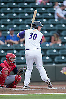 Zack Collins (30) of the Winston-Salem Dash at bat against the Potomac Nationals at BB&T Ballpark on July 15, 2016 in Winston-Salem, North Carolina.  (Brian Westerholt/Four Seam Images)