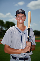 GCL Tigers West center fielder Parker Meadows (14) poses for a photo after a game against the GCL Tigers East on August 8, 2018 at Tigertown in Lakeland, Florida.  GCL Tigers East defeated GCL Tigers West 3-1.  (Mike Janes/Four Seam Images)
